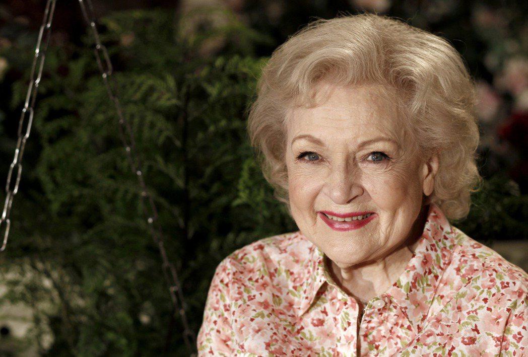 「黃金女郎」貝蒂懷特歡度99歲生日。(美聯社)