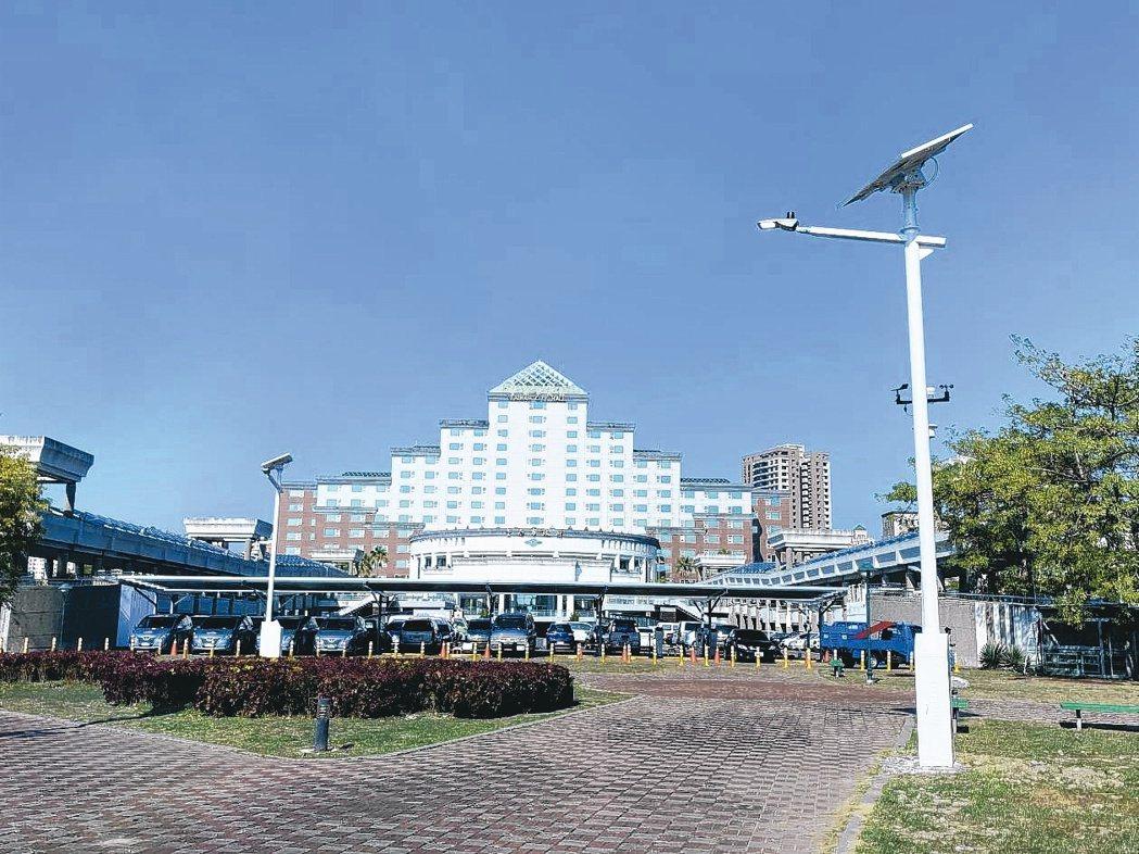 賀喜能源整套千萬系統建置在臺南市政府永華公園。賀喜/提供