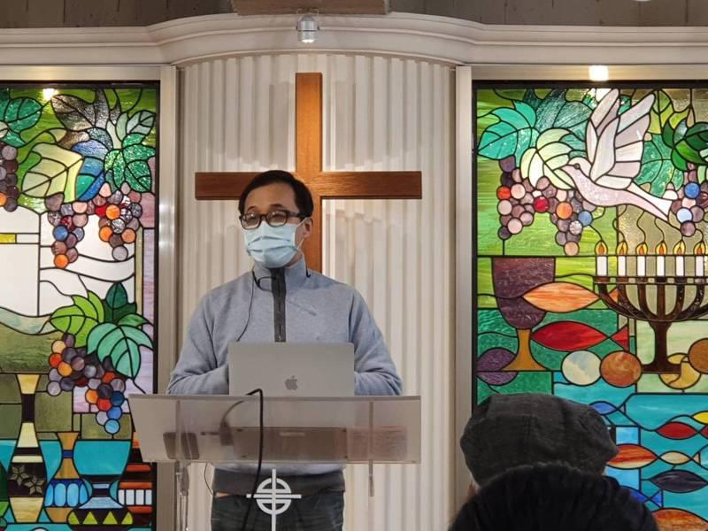 姜至剛今受邀出席台福教會主辦的「萊豬到底該不該萊?」醫學講座。記者楊雅棠/攝影