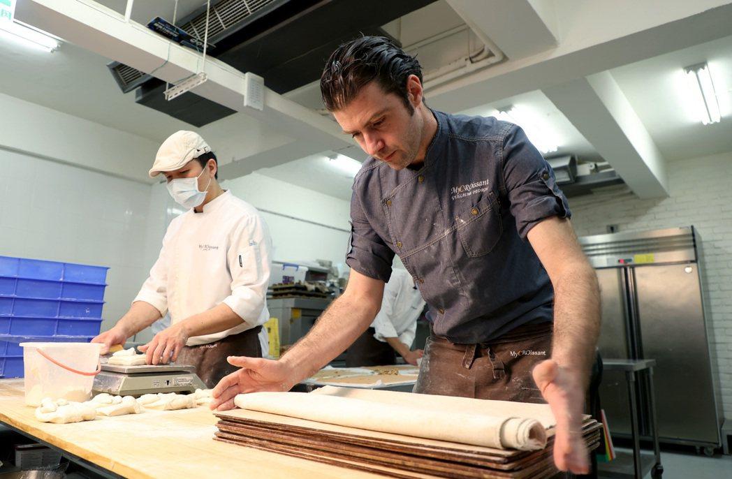 吉可頌丹麥專賣店主廚Guillaume Pédron。 圖/余承翰攝影