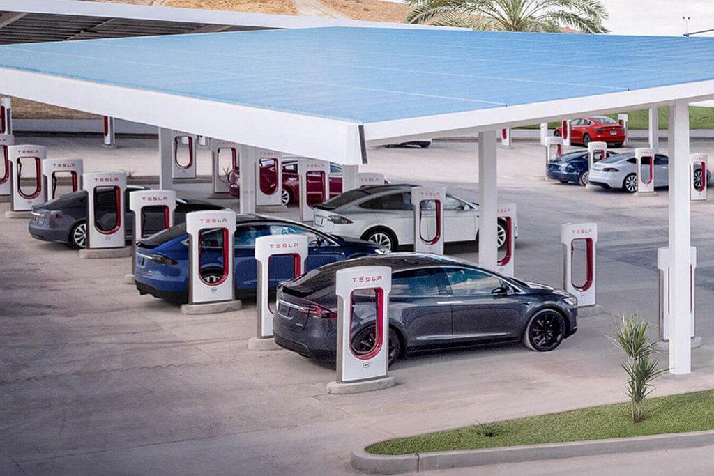 特斯拉電動車宣布台灣再開放台北南港、宜蘭兩座V3超級充電站。 圖/特斯拉提供
