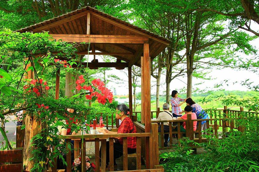 李振賢的「棧板木工坊」。 中華大學/提供