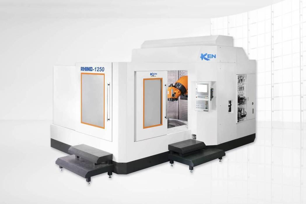 大前科技將在「2021台北工具機展」發表的RHINO 1250臥式五軸銑削加工中...