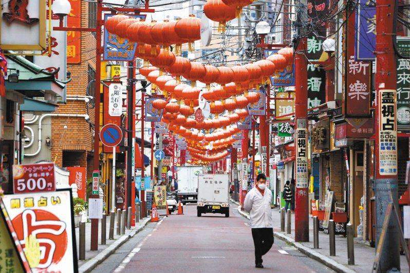 圖為日本橫濱中華街。 美聯社