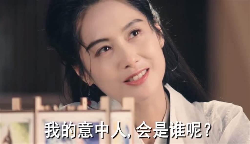 朱茵代言手遊,再度扮起「紫霞仙子」。圖/摘自微博