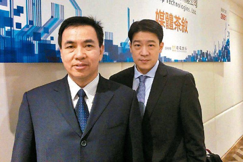 世芯董事長關建英(左)與總經理沈翔霖(右)。報系資料照