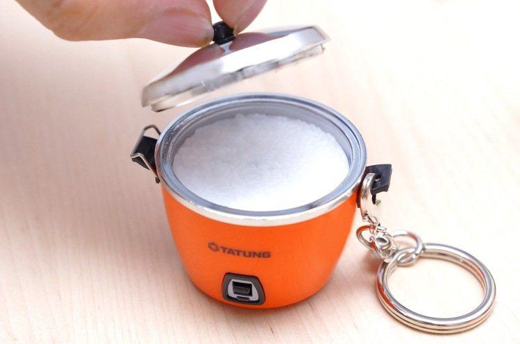大同電鍋icash2.0鍋蓋還可以打開,非常擬真。圖/愛金卡提供