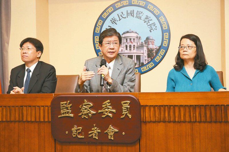 監委王美玉(右)、高涌誠(左)王美玉宣稱,調查石木欽案的壓力不小,她和高涌誠都已收到律師函。圖/聯合報系資料照片