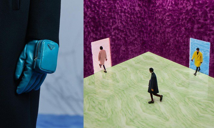 PRADA發表2021秋冬男裝系列,在色彩和諧又充滿空間趣味的秀場中,再度帶來經...