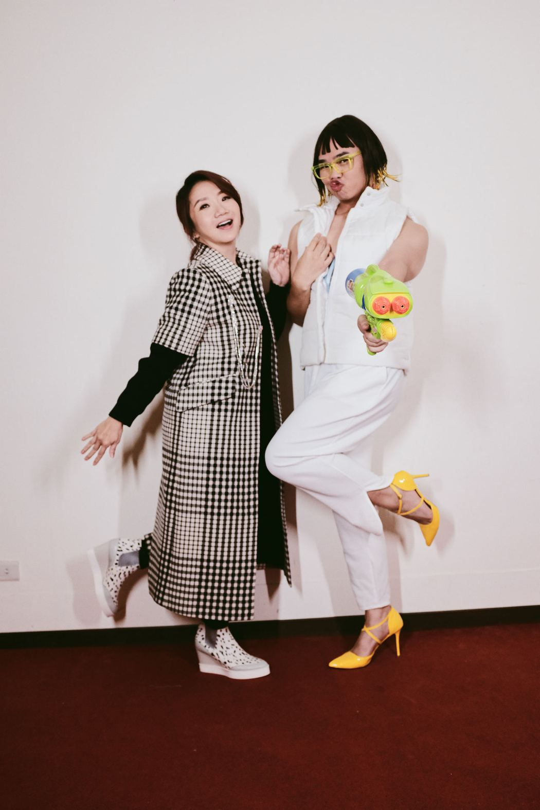 陶晶瑩(左)接受那那大師訪問。圖/KKLIVE提供
