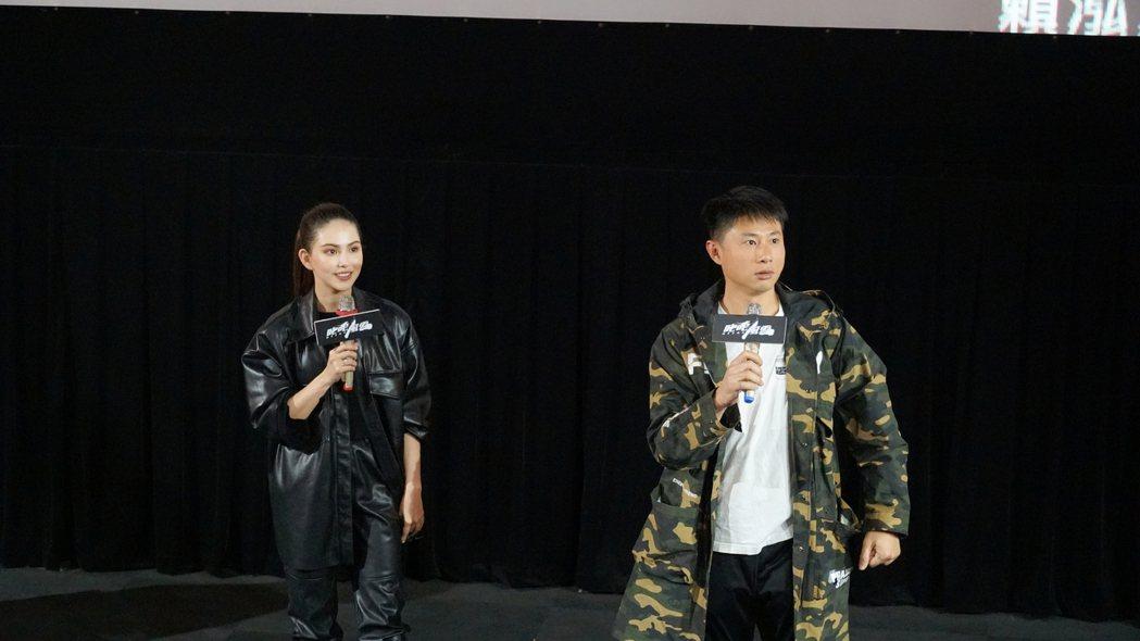 「叱咤風雲」上映兩天破600萬,昆凌(左)和彭小刀(右)勤跑映後宣傳。圖/創映電...