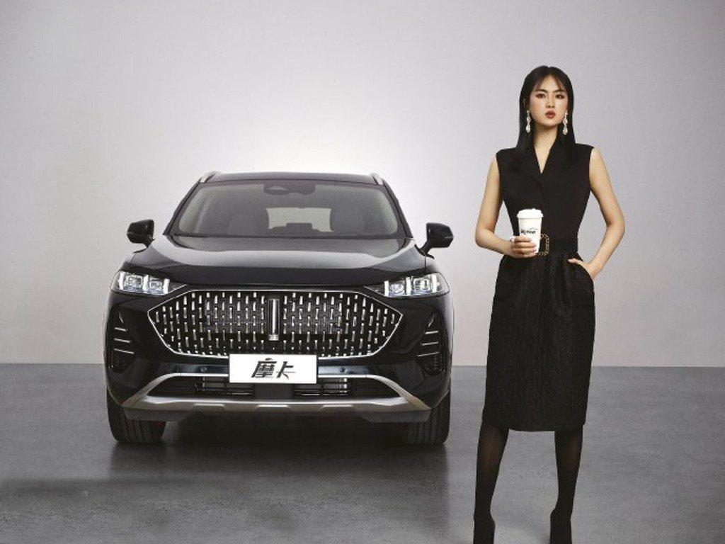 姚安娜為大陸長城汽車「摩卡」代言。圖/香港經濟日報