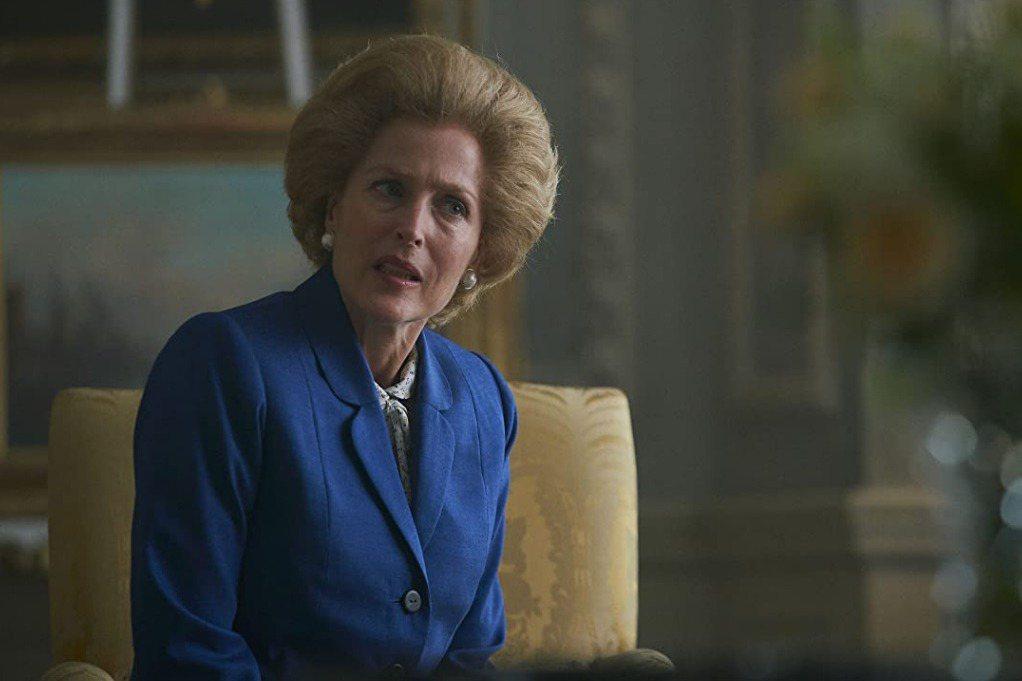 姬蓮安德森演活「王冠」中的柴契爾夫人。圖/摘自imdb