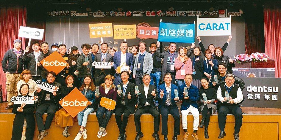 電通行銷傳播集團在2020行銷傳播傑出貢獻獎,獲6金5銀11銅22座獎項,蟬聯獲...