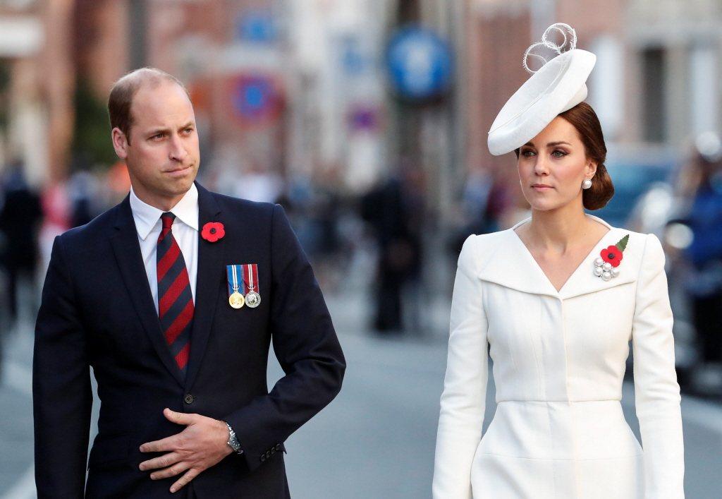 威廉(左)與凱特身為英國未來國王、王后,支持者容不得有旁人比他們更出風頭。圖/路