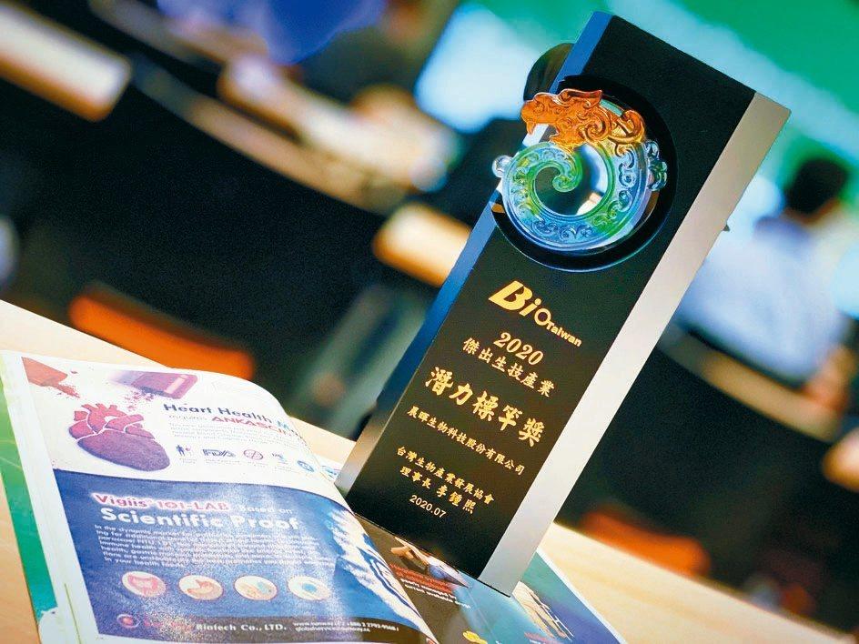 晨暉生技以專利菌株布局海內外市場、廣納國內外多項專利,榮獲「2020傑出生技產業...