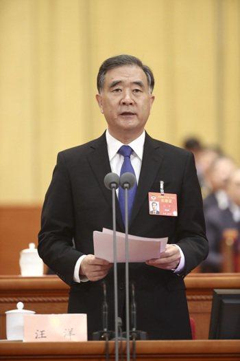 陸全國政協主席汪洋(中新社)