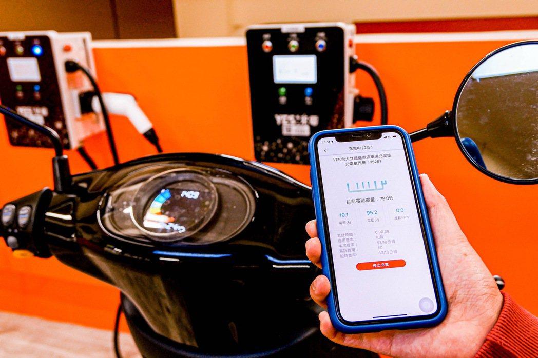 學生可透過「YES!來電」APP進行掃碼啟動充電、充電過程顯示以及充飽電的推播提...