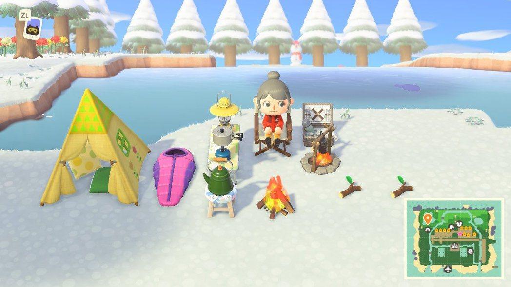 聖誕節期間的搖曳露營島。這位玩家的包包頭跟凜也有幾分神似呢ww  圖源:@ t...