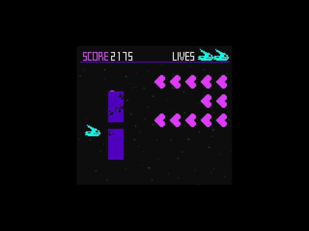居然還有類似《太空侵略者》的小遊戲呢!遊戲途中可以放鬆一下來玩玩看。