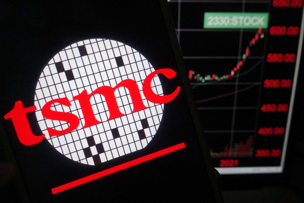 股價大漲效應,台積電上月交易戶數增逾5,000戶。 中央社