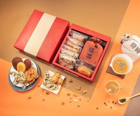 春節限定淘氣小農聯名茶點禮盒。 三個味道/提供