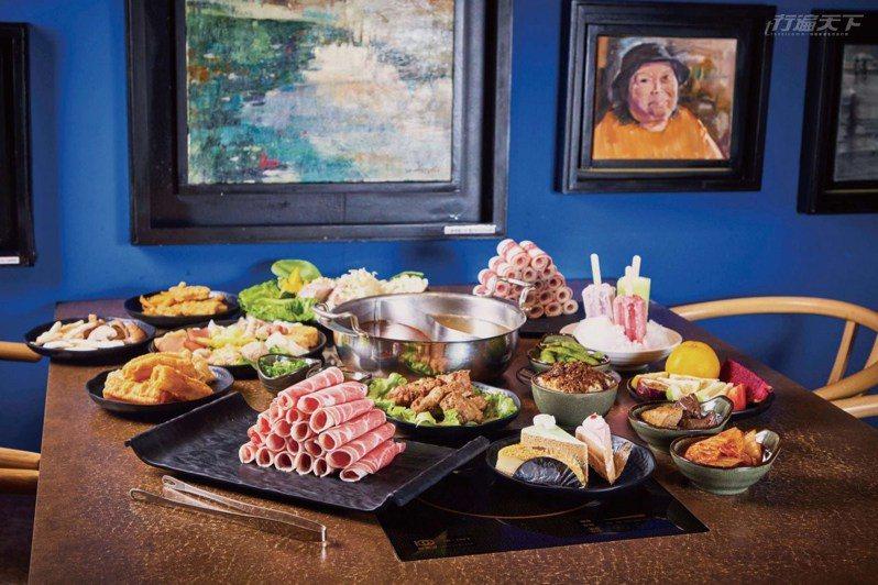 藝爐晏讓人彷彿在藝廊裡吃火鍋,而且吃到飽食材超豐盛只要 399 元起,CP 值超高!