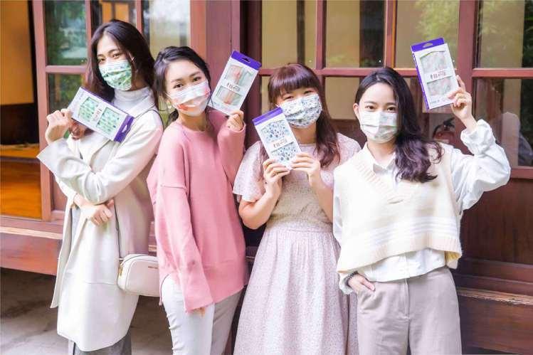 幸福物語醫療日系口罩首波共推出4款圖樣,售價169元(10入)。圖/明基健康生活...