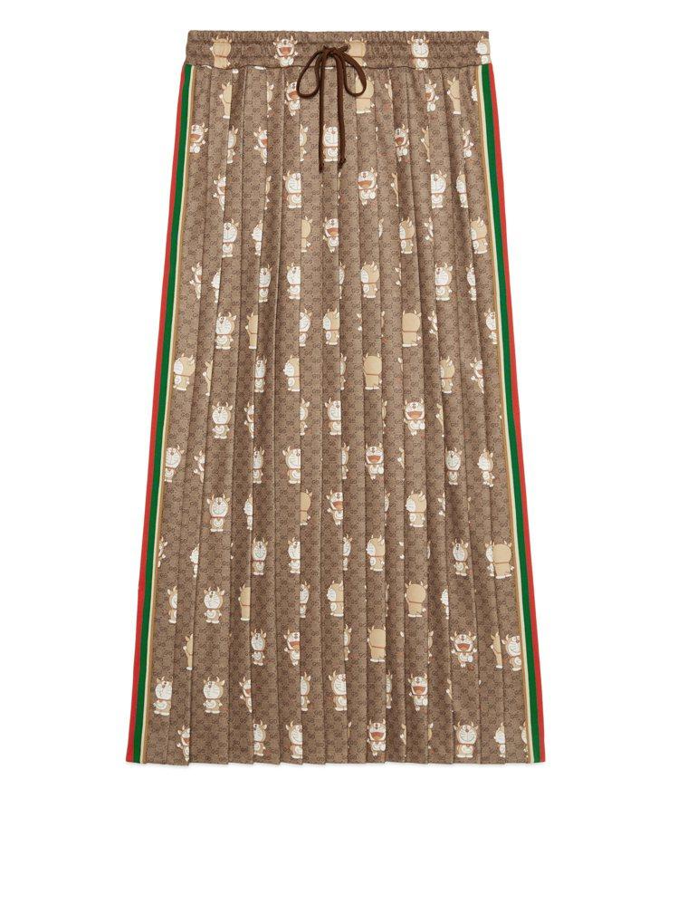 哆啦A夢金牛年長裙,42,500元。圖/Gucci提供