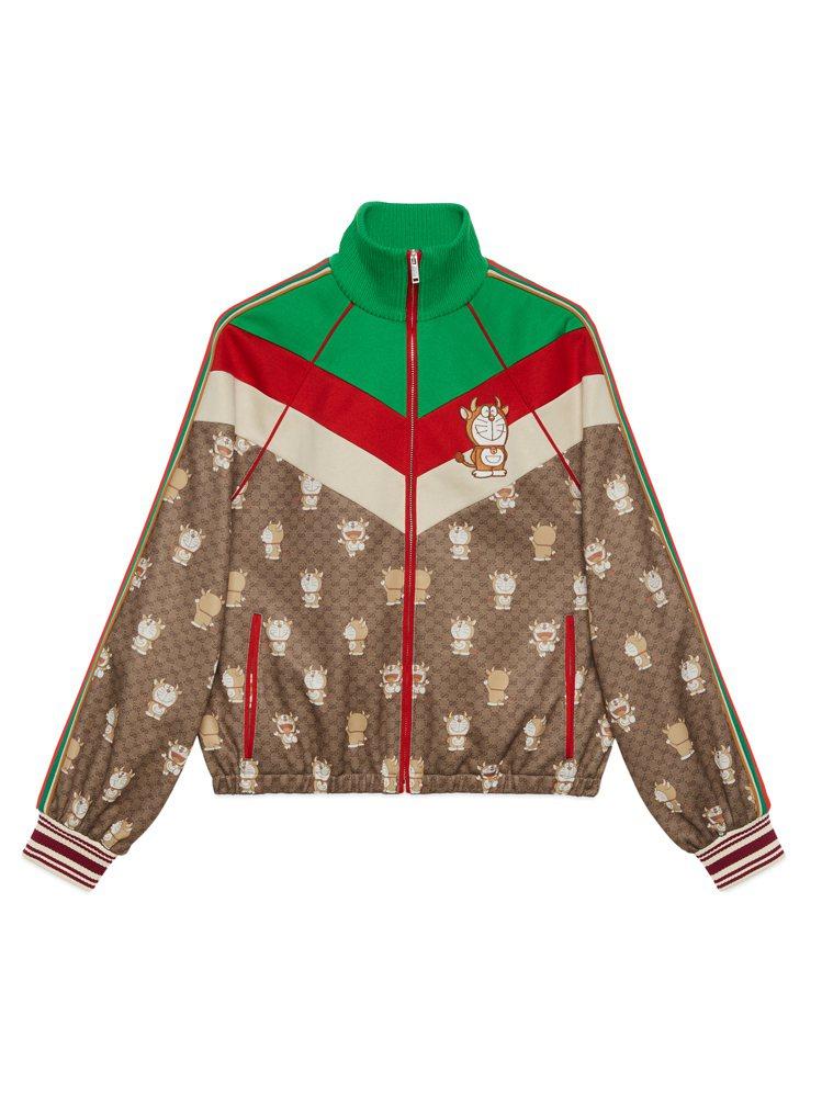 哆啦A夢金牛年運動外套,66,000元。圖/Gucci提供