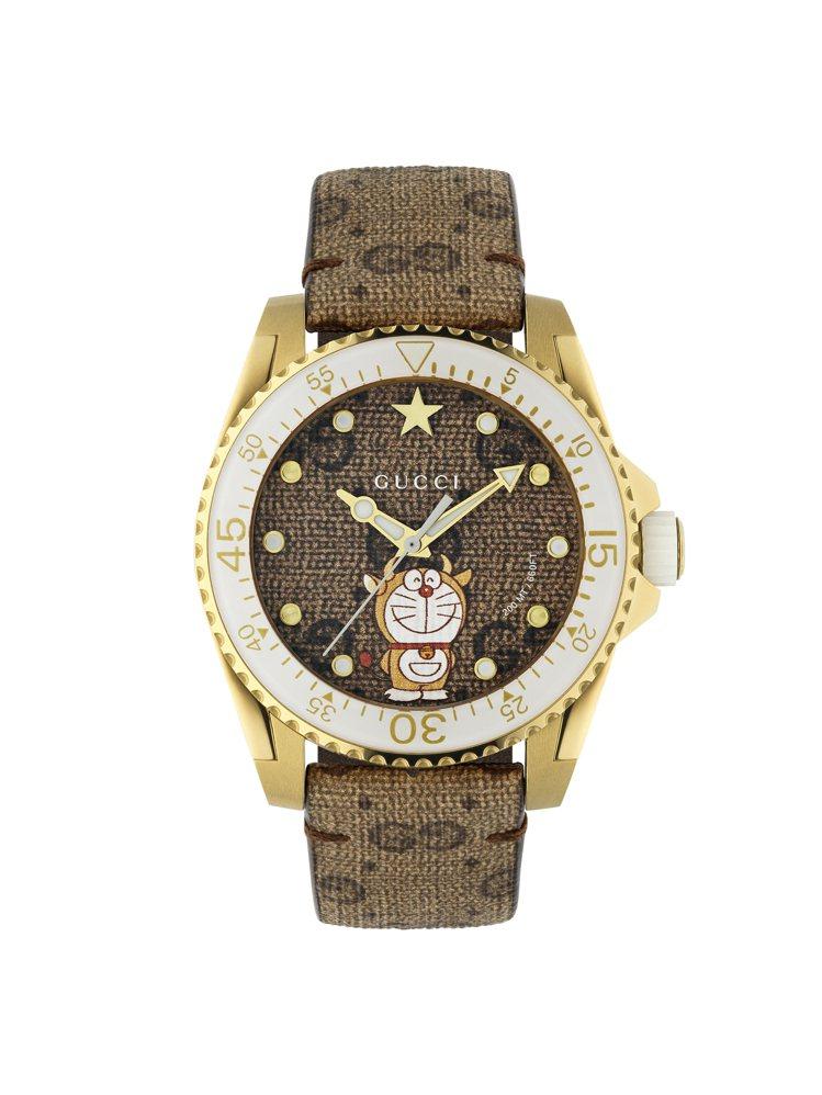 哆啦A夢金牛年腕表,51,000元。圖/Gucci提供