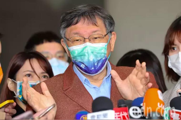 台北市長柯文哲被問到是否停辦台北燈節時回應,按照中央原則處理。聯合報系資料照