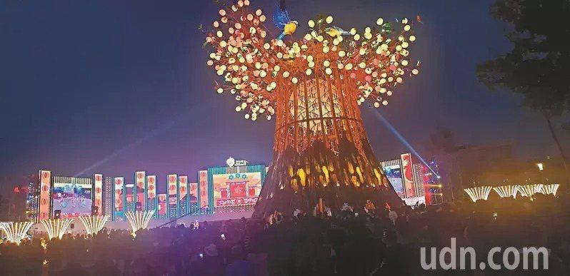 台灣燈會示意圖,圖為去年台灣燈會主燈區。本報資料照片