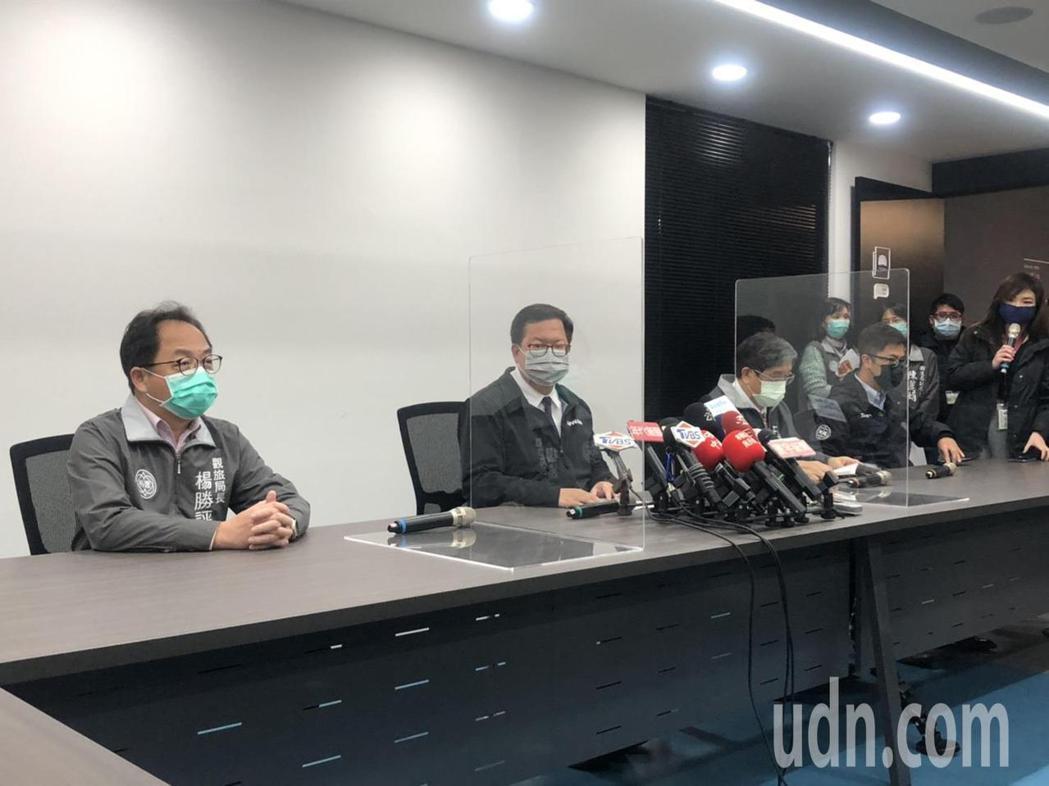 桃園市長鄭文燦說,南門市場明天休市大消毒。記者曾健祐/攝影