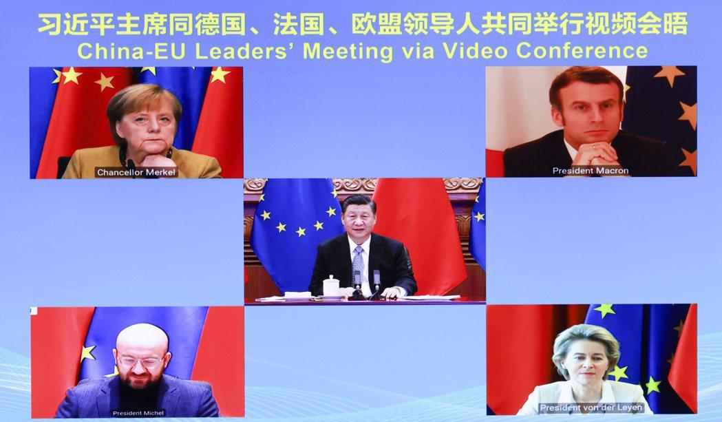 去年12月30日,中國國家主席習近平透過視訊跟歐盟領導人舉行會晤並共同宣佈完成了...