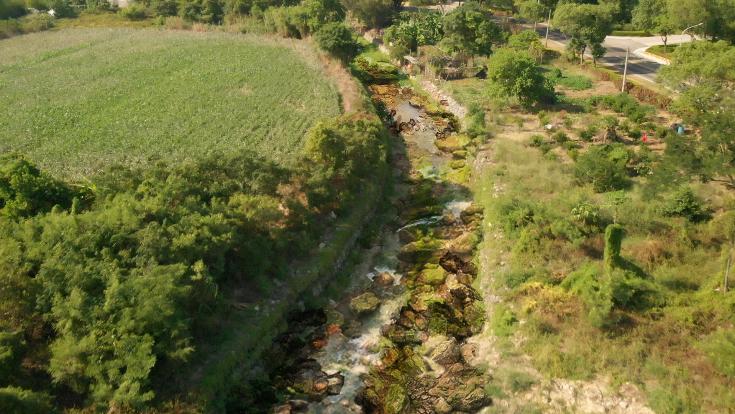 金門縣府花大錢積極進行流域排水改善。圖/縣府提供
