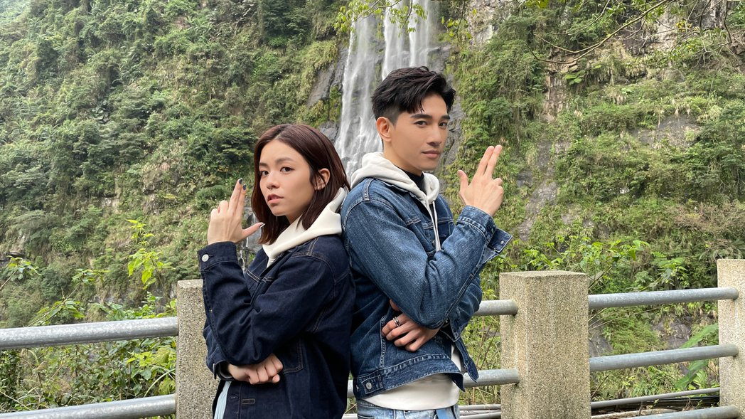 宋芸樺(左)和張立昂進行「一日約會挑戰」。圖/樺麗探險提供