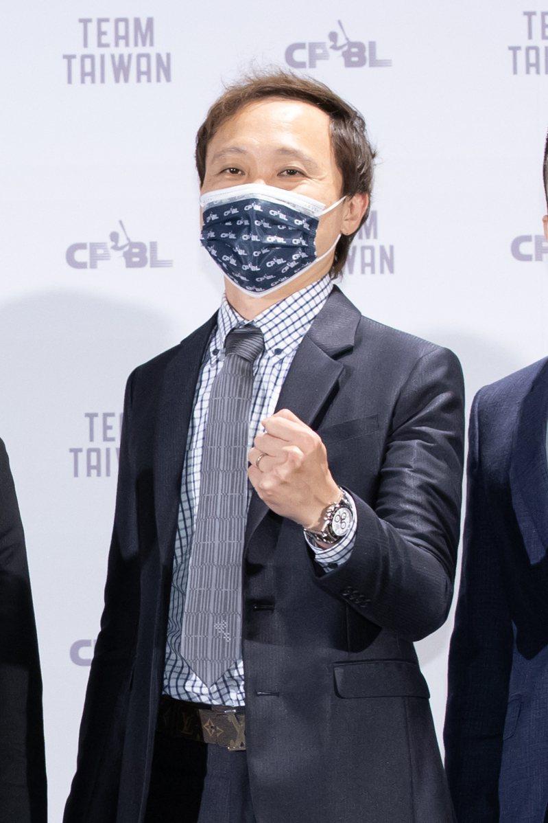 樂天桃猿隊領隊浦韋青。記者季相儒/攝影