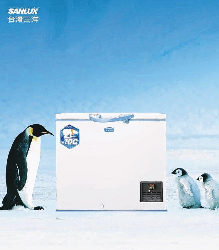 台灣三洋以醫療等級控溫技術,推出-70℃超低溫家用冷凍櫃。台灣三洋/提供