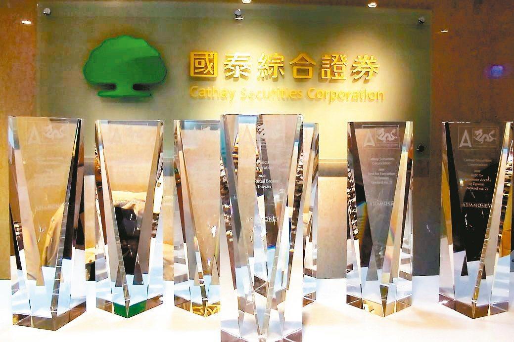 2020《Asiamoney》券商票選,國泰證券勇奪「台灣最佳零售經紀商」共達7...