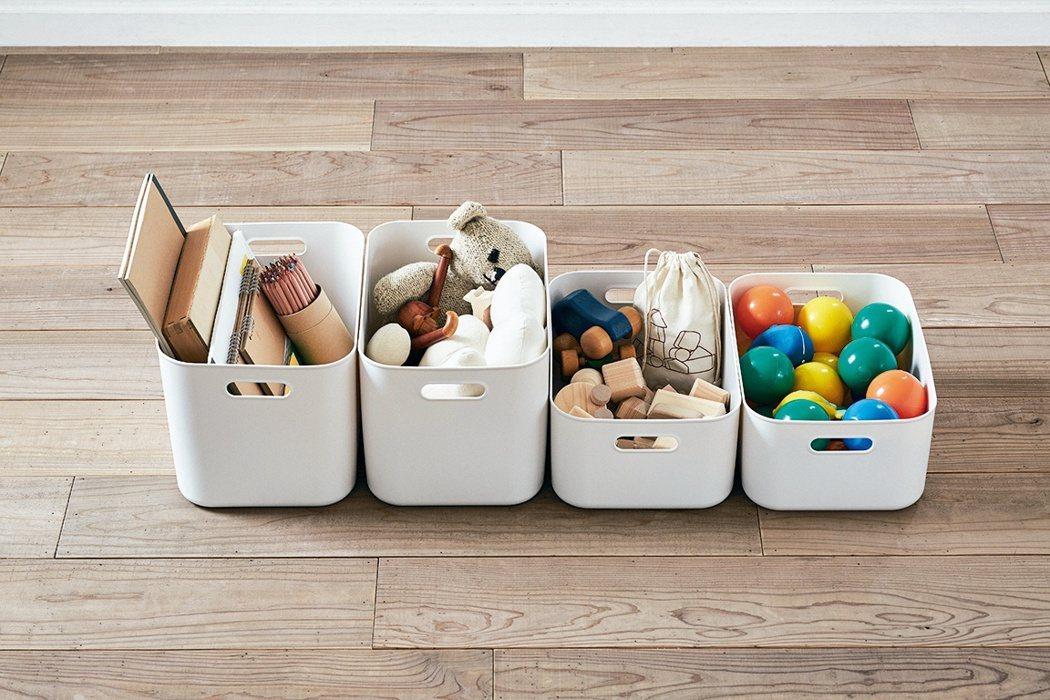 運用不同大小的收納盒,可把零碎物品變得有秩序。圖/無印良品提供