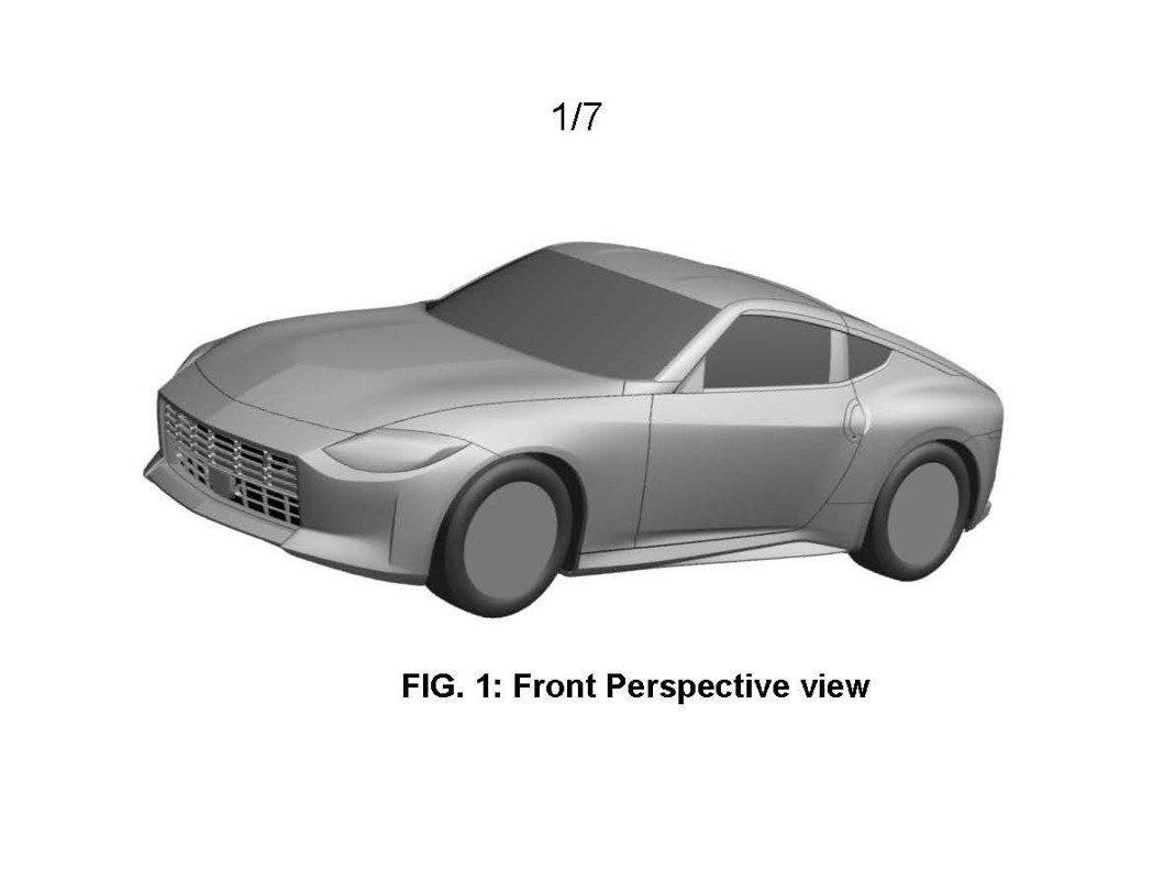 澳洲專利局公布了全新Fairlady Z的專利圖。 圖/摘自Carscoops
