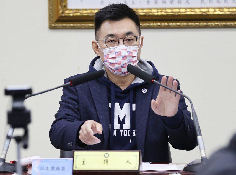 國民黨主席江啟臣。 記者陳正興/攝影