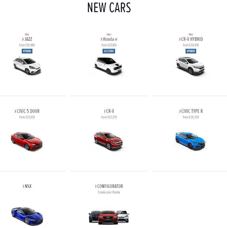 圖/截自Honda UK官網