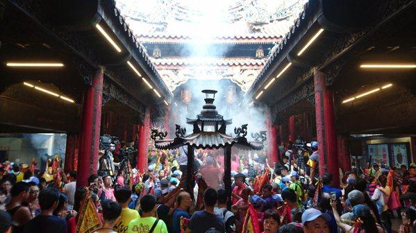 大甲鎮瀾宮宣布,2021年搶頭香活動取消。 記者黑中亮/攝影
