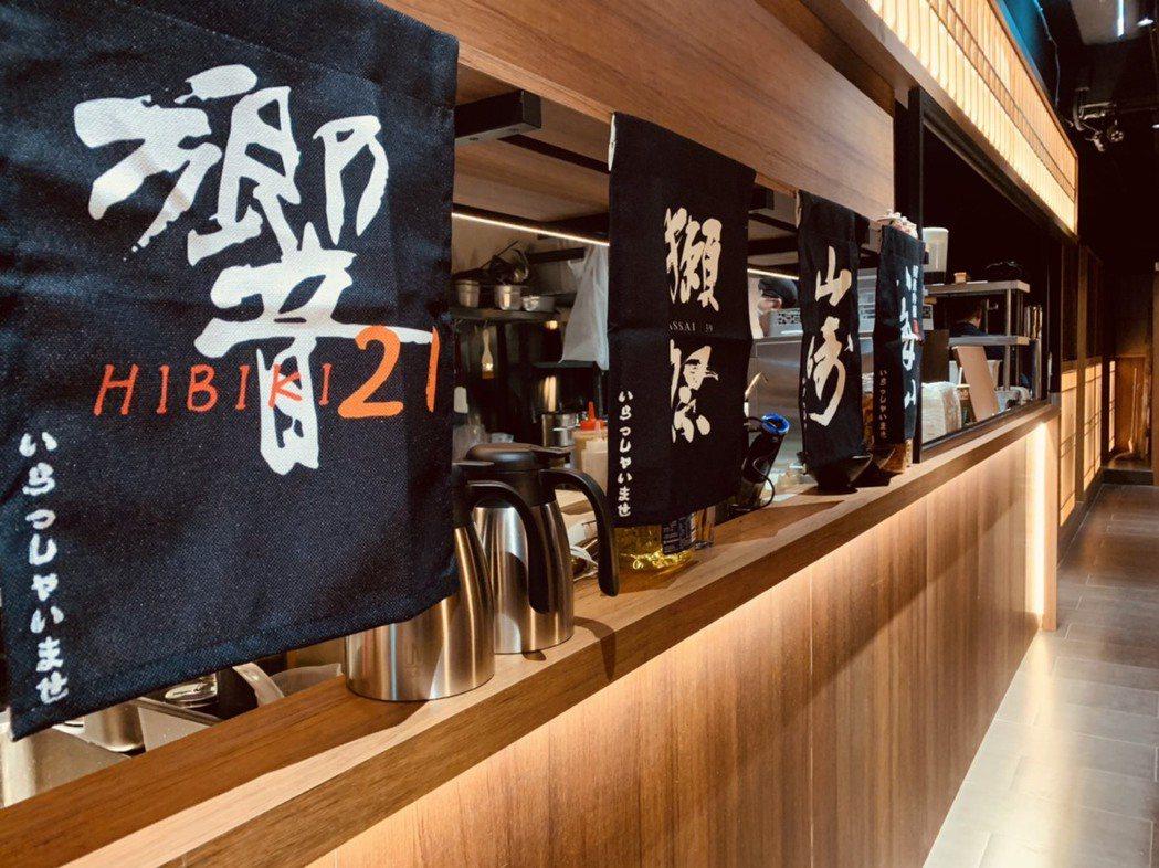 黑毛和牛一頭切り,店內裝潢讓人彷彿置身日本懷石料理餐廳。