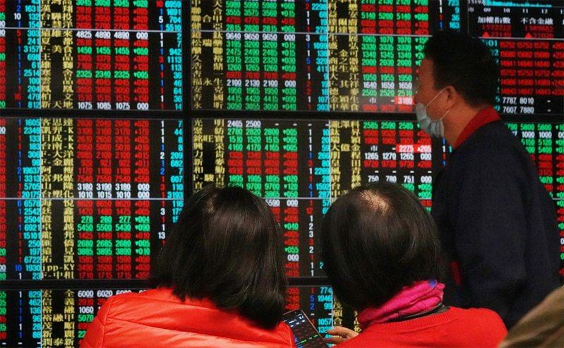 台股終場指數下跌71.19點,收在15,806.18點,成交量達4,148.77億元。聯合報系資料照