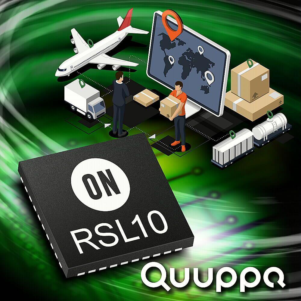 Quuppa智慧定位系統技術可以即時追蹤標籤和設備。 安森美半導體 /提供