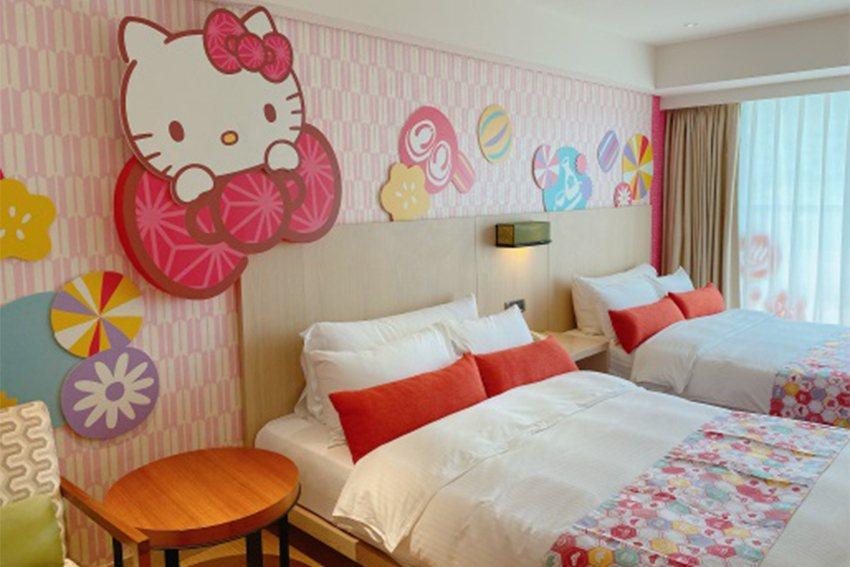 知本金聯Hello Kitty主題房。 新光三越桃園站前店/提供