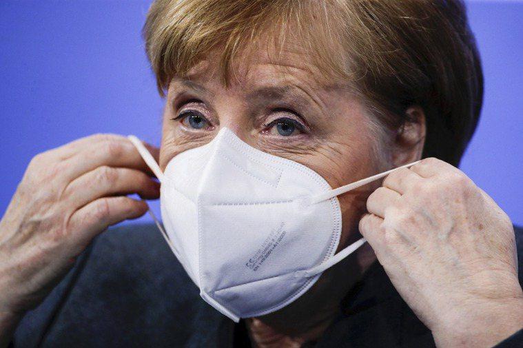 德國總理梅克爾。 美聯社